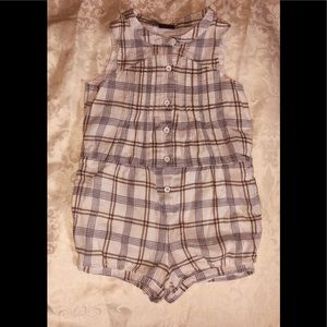 Baby gap toddler 3 years old blue and white romper